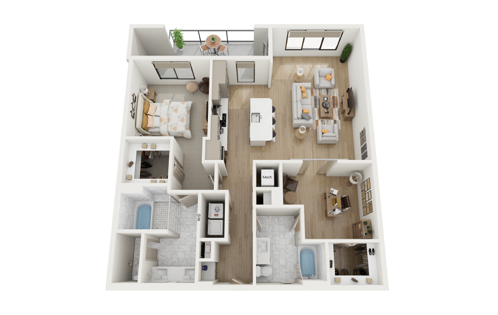 2 Bed, 2 Bath (B3 Floor Plan) at Towerview at Ballantyne in Charlotte, NC