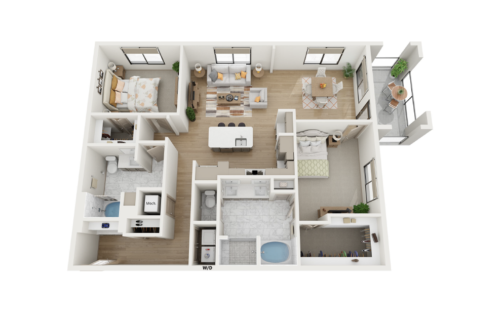 2 Bed, 2 Bath (B5 Floor Plan) at Towerview at Ballantyne in Charlotte, NC