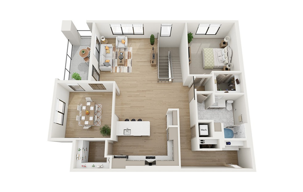 CTH2 - 3 bedroom floorplan layout with 2.5 baths and 2961 square feet. (Floor 2)